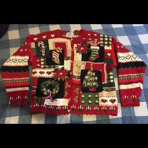 Tiara Knitted Christmas Sweater Sz L